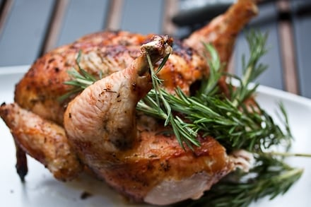 Tuscan Beer Can Chicken with Rosemary and Prosecco