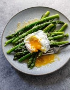 Asparagus in Bed with Poached Eggs and Parmesan: A perfect simple supper or intimate breakfast