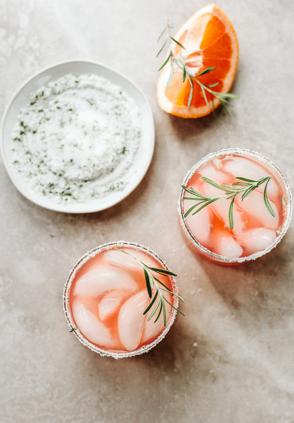 Italian Greyhound Cocktail with Rosemary Sugar