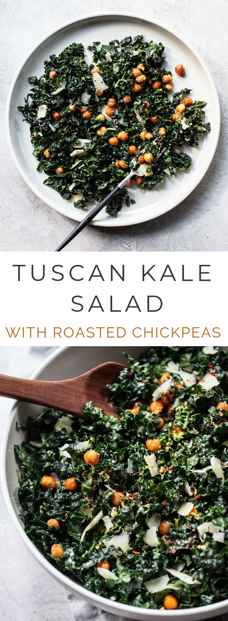 Tuscan Kale Salad with Smoky Roasted Chickpeas