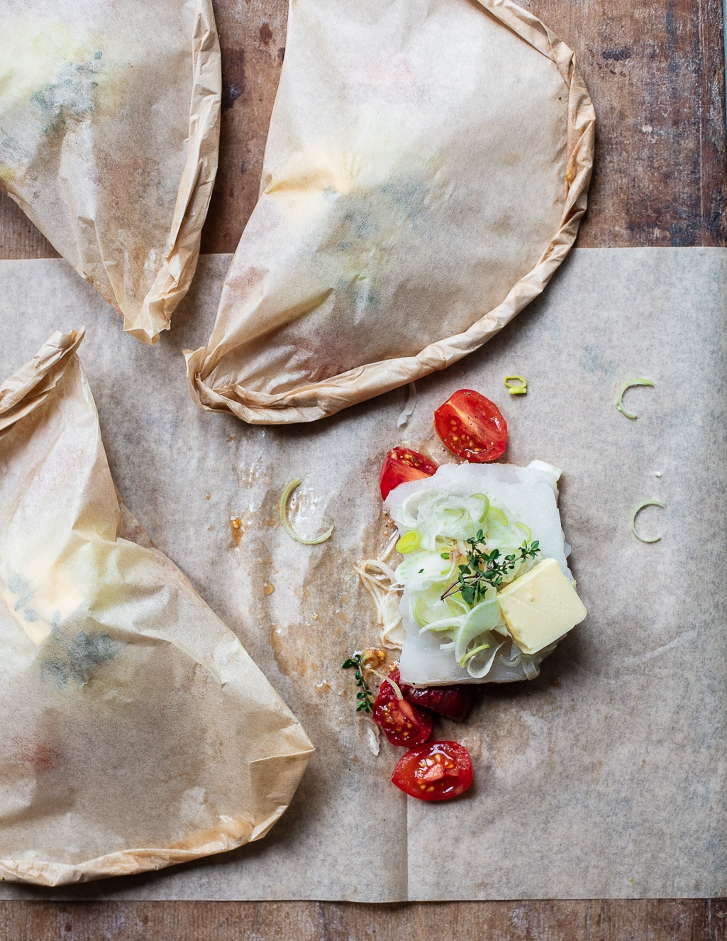 The least fussy and tastiest way to cook fresh fish - Parchment Roasted Cod with Fennel, Tomatoes and Herbs
