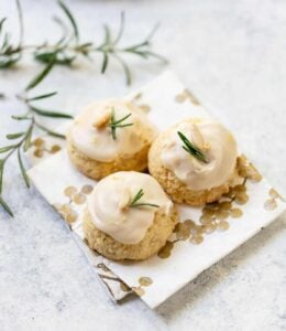 Rosemary Lemon Cornmeal Cookies