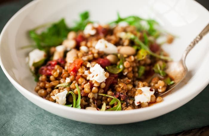 Wheat Berry Salad with Charred Tomato