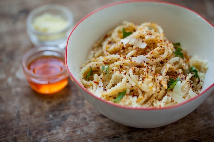 midnight pasta, pecorino and olio santo | familystyle food