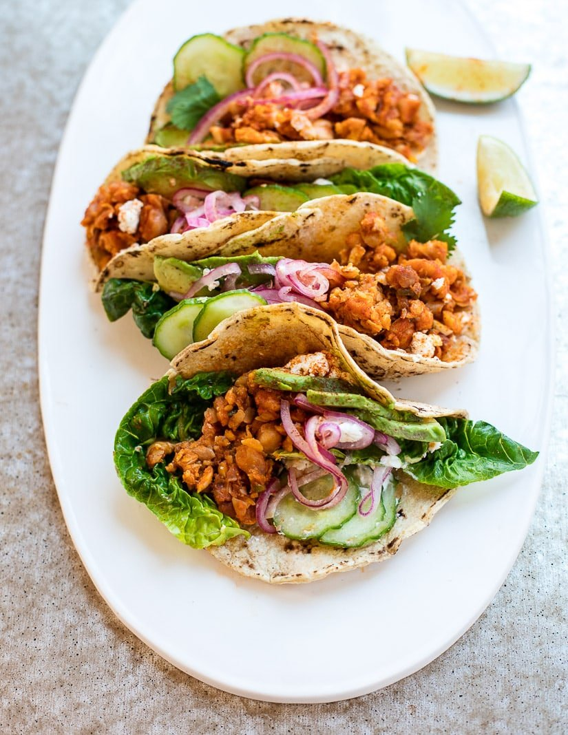 The Best Meatless Tacos! Smoky Chickpea Tacos