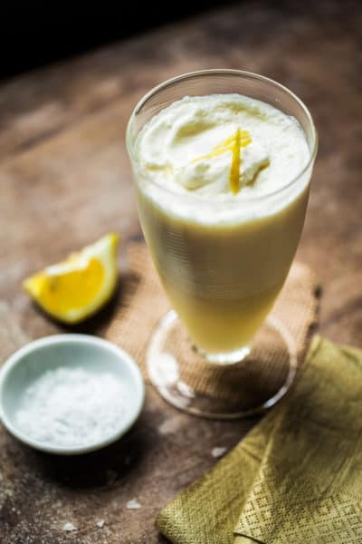 Creamy Italian Lemon Slush with Prosecco and Vodka