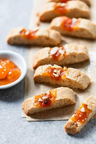 Rustic Apricot Almond Jam Cookies