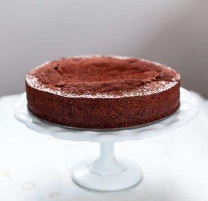 Chocolate Almond Caprese Cake