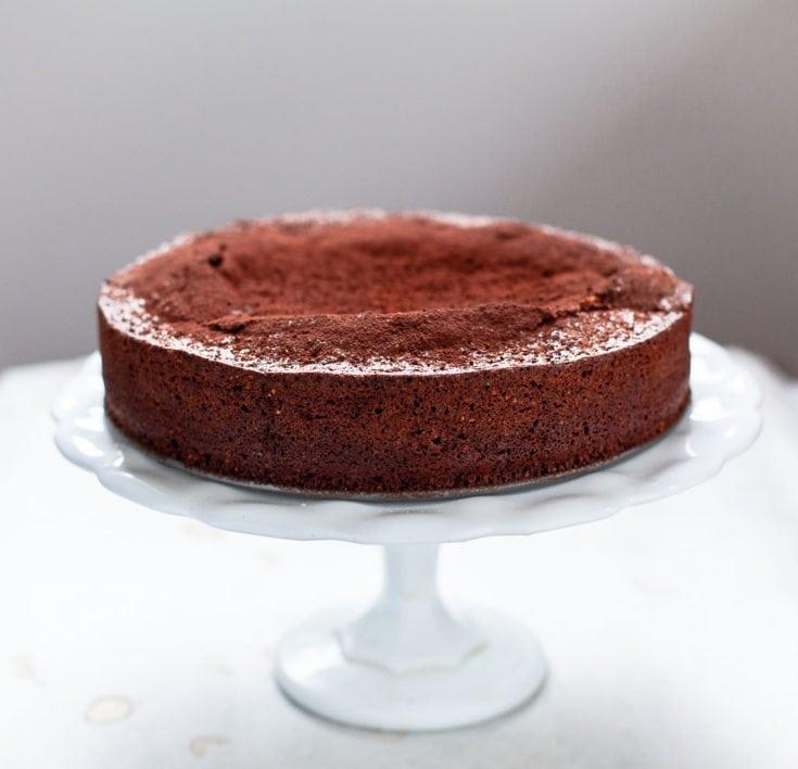Flourless Chocolate Caprese Cake