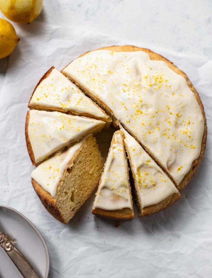 Lemon Ricotta Cake with Mascarpone Icing