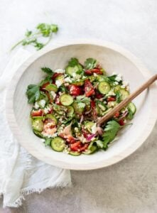 Healthy Couscous Salad with Feta