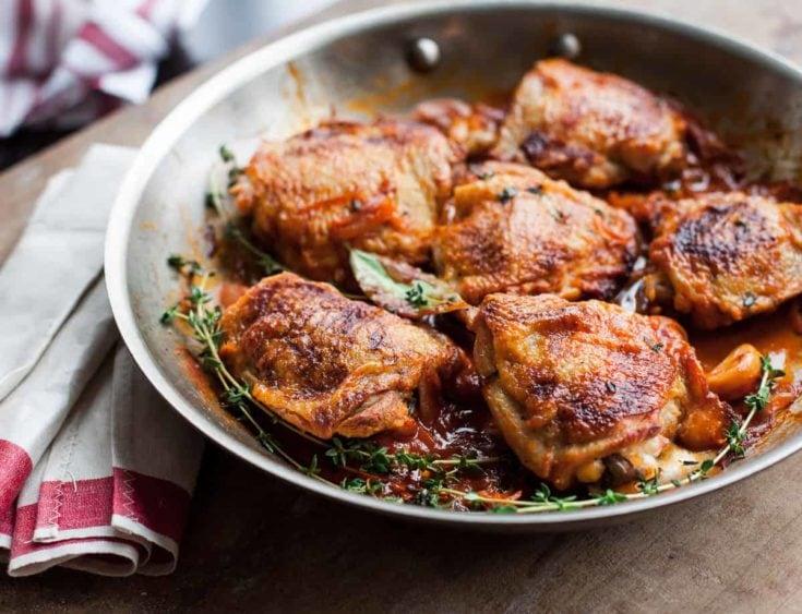 Chicken in Red Wine Vinegar Sauce