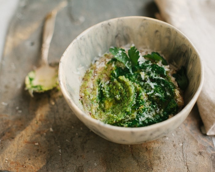Rustic Parmesan Polenta with Greens