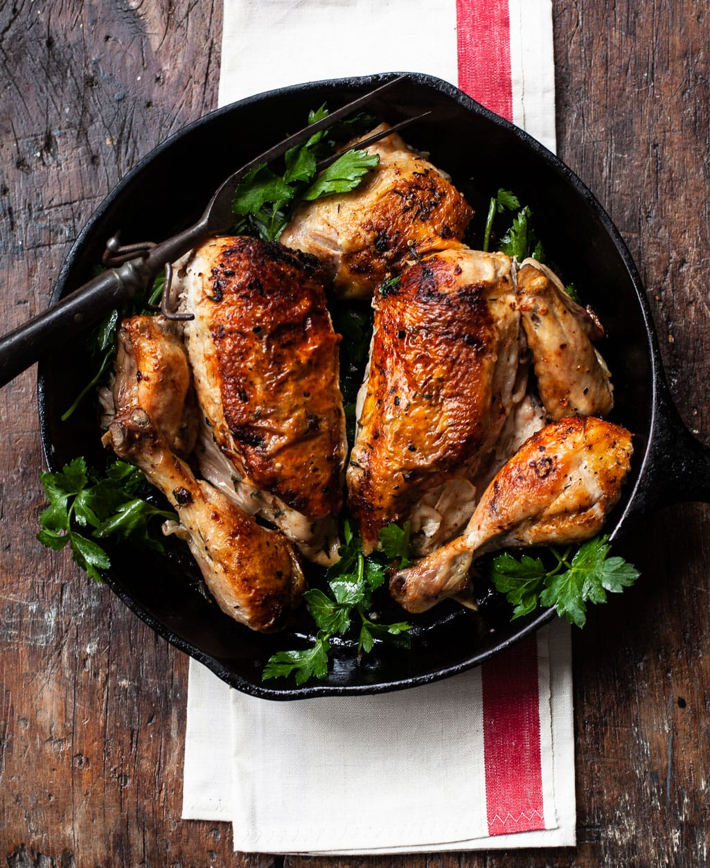 Roast Chicken with Italian Chili Butter