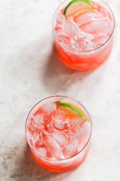 Refreshing Rhubarb Lime Cocktail