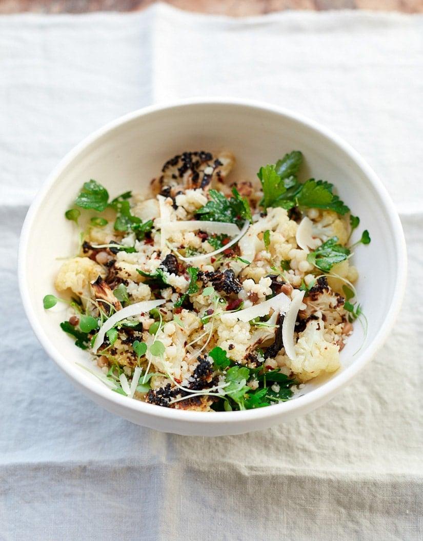 Charred Cauliflower Salad with Fregola Pasta