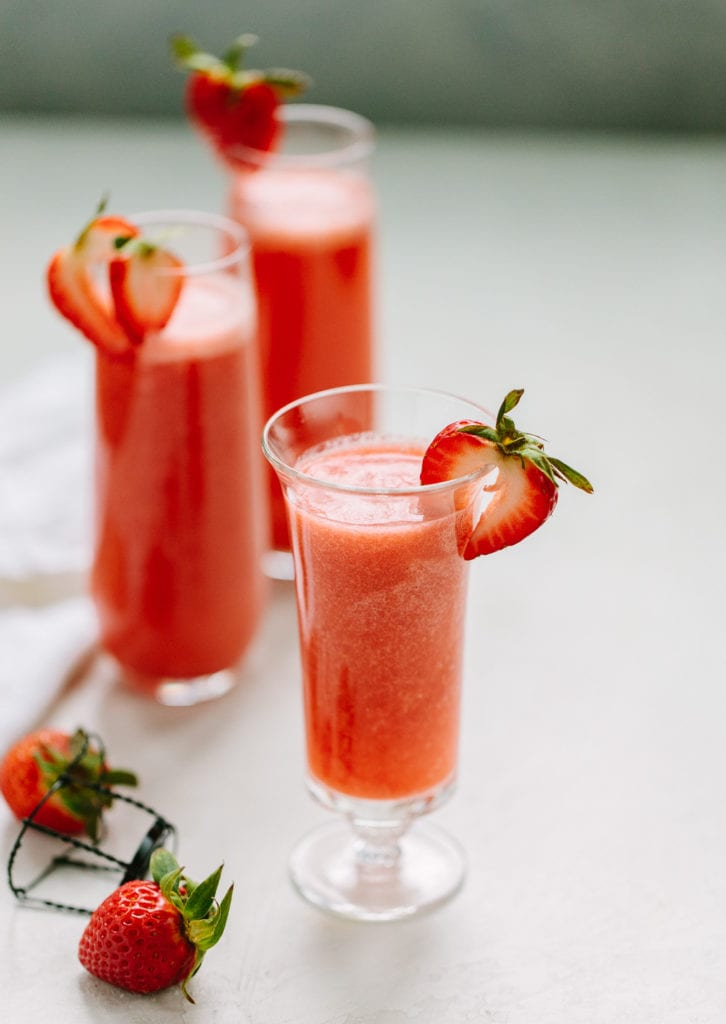 Strawberry Rossini Prosecco Cocktail