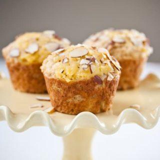 Buttermilk Almond Muffins with Meyer Lemon Curd