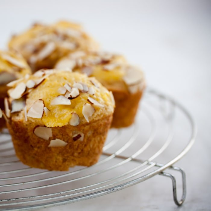 Buttermilk almond muffins