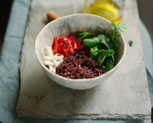 Italian Black Rice and Vegetable Bowl