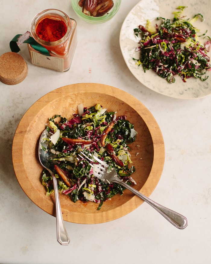 Chopped Kale Salad with Warm Dates