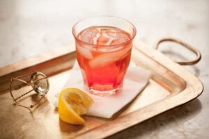 Italian spritz cocktail - a classic aperitvo with Campari and prosecco