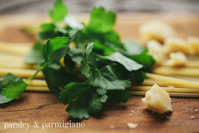 Italian parsley and Parmigiano cheese