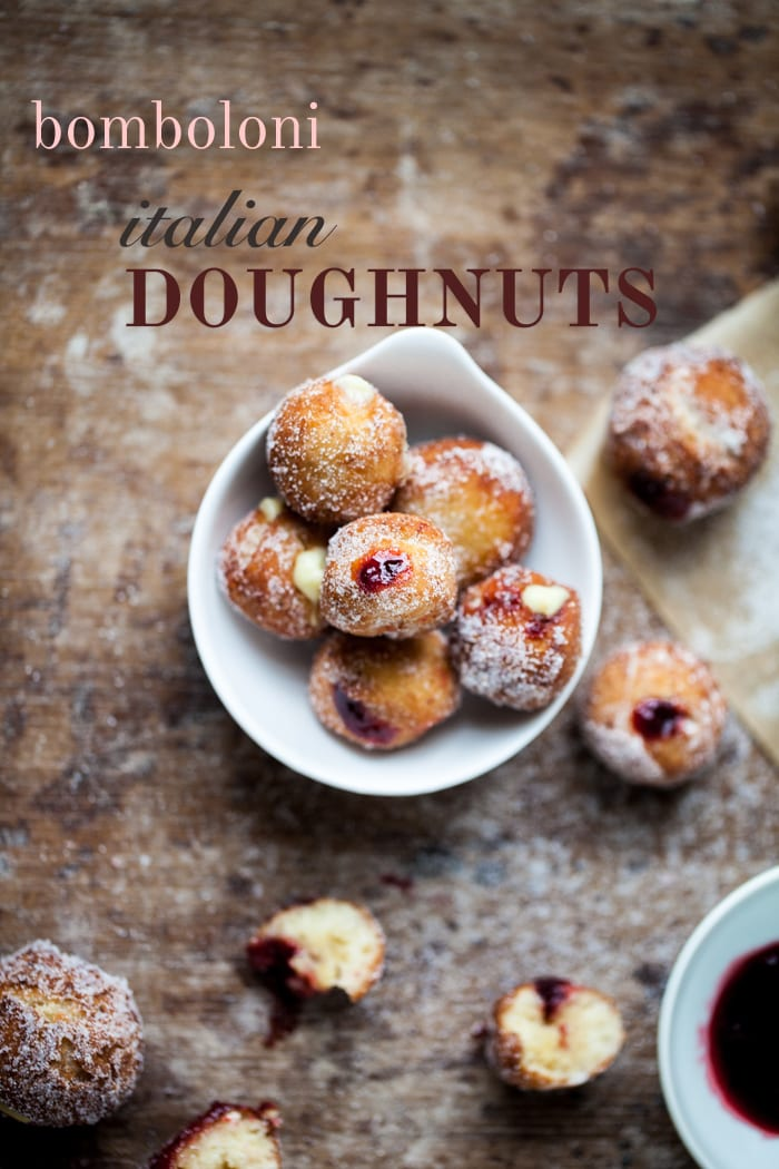 Bomboloni Italian Cherry Jam-Filled Doughnuts
