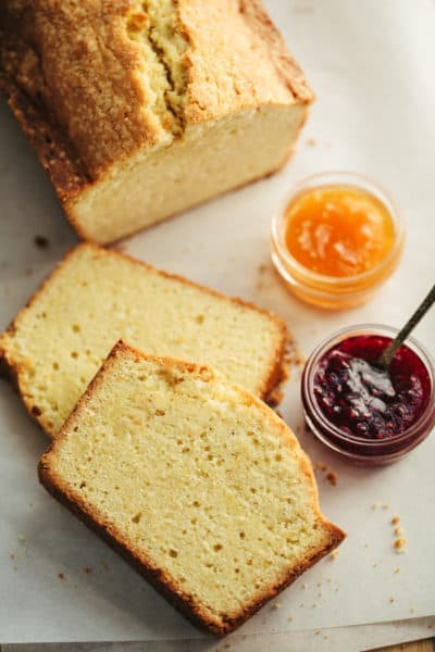 Fresh ginger-lemon pound cake