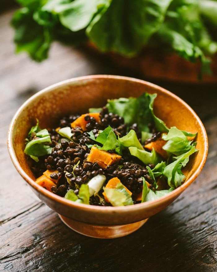 lentil-salad-with-escarole-and-sweet-potato