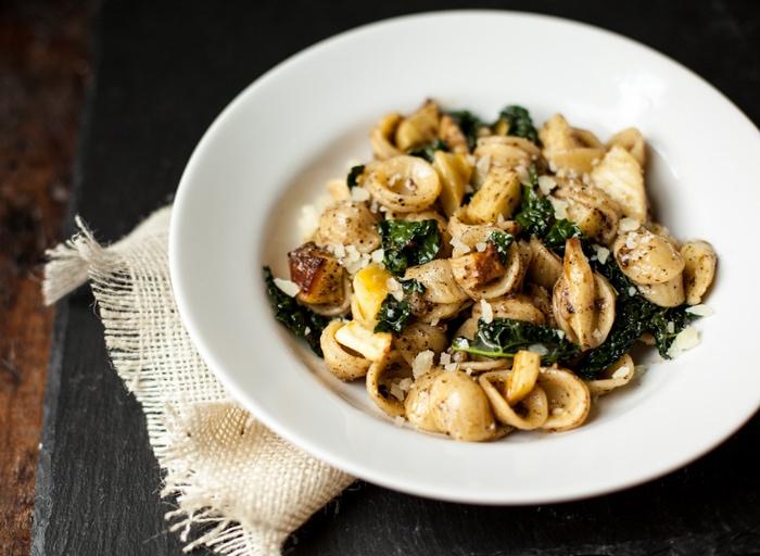 orecchiette, parsnips cacio e pepe recipe