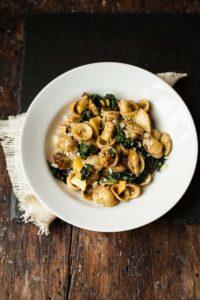 orecchiette pasta and parsnip cacio e pepe