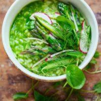 asparagus risotto verde