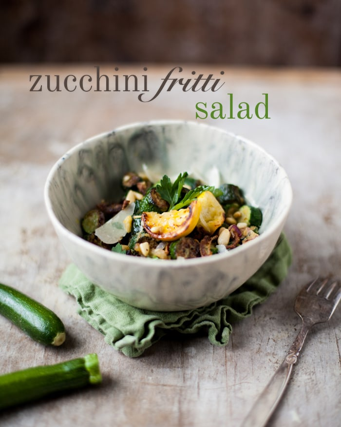 Italian Zucchini Salad: Olive-oil fried zucchini with lemon, parsley and parmesan
