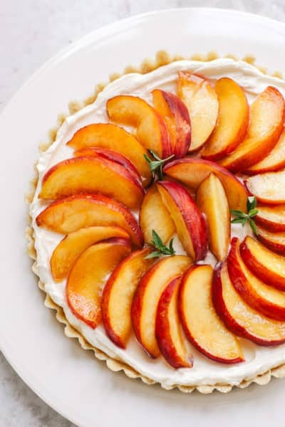 Totally No-Bake Cream Cheese Peach Tart