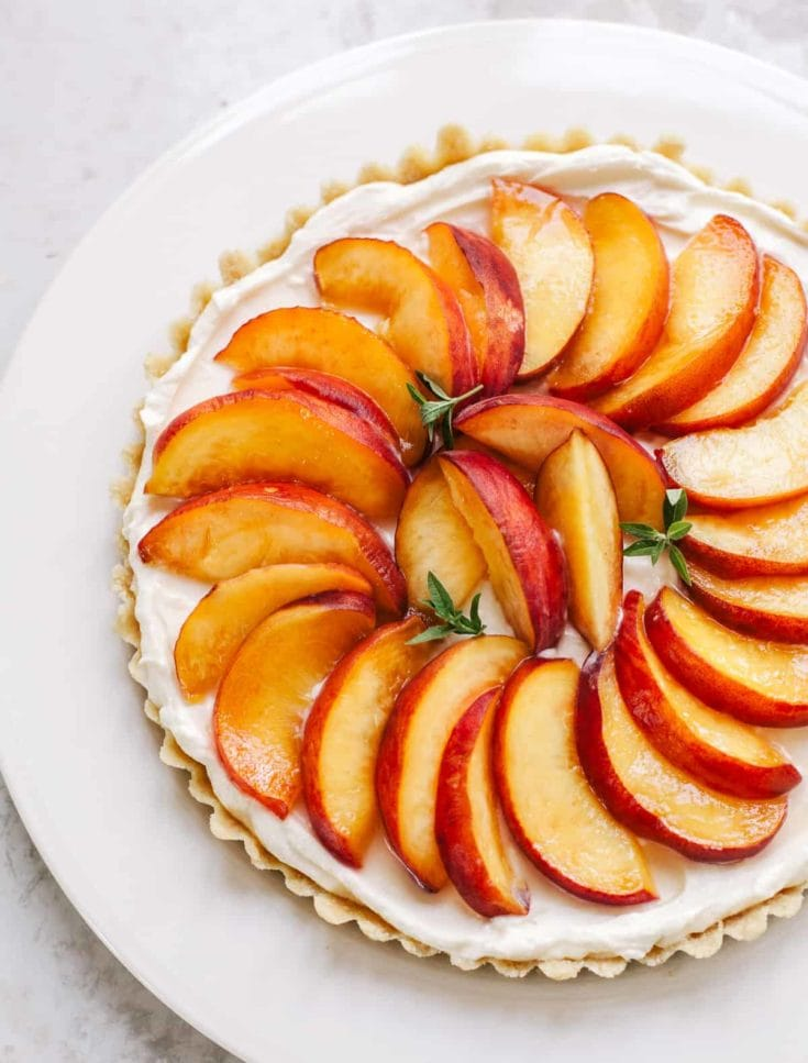 No-Bake Peach Tart