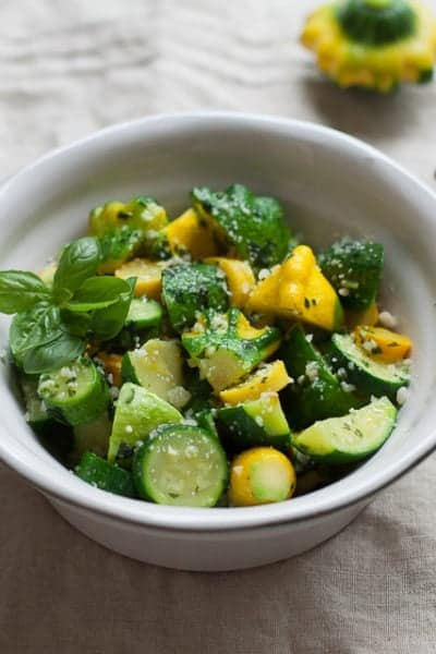 summer squash with basil butter