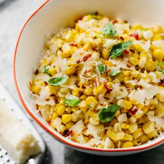 Italian Sweet Corn Salad with Pecorino Cheese