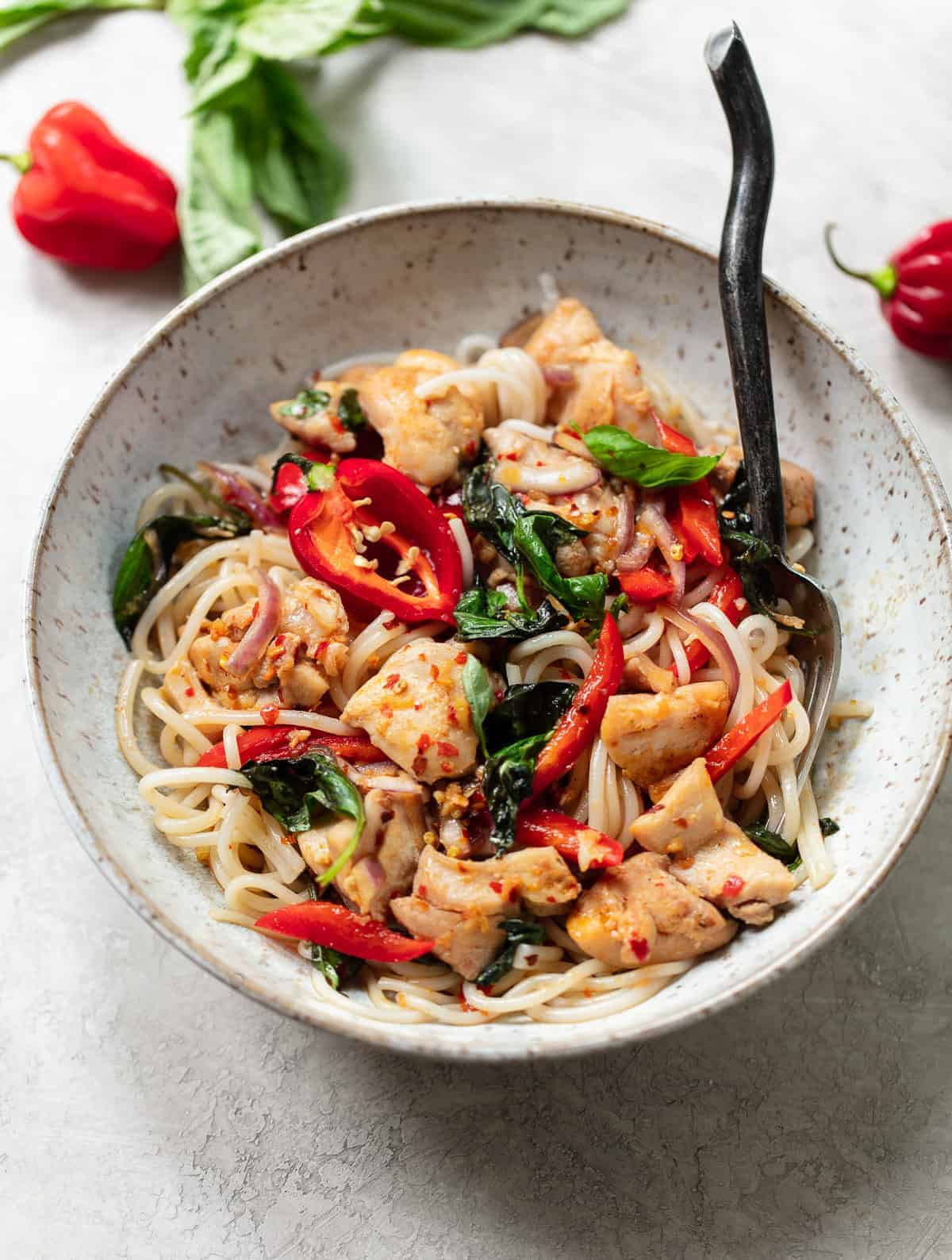 Thai Basil Chicken with Chili Garlic Sauce