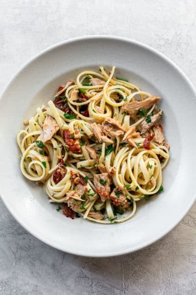 Pantry Linguine with Tuna and Chili Aglio e Olio