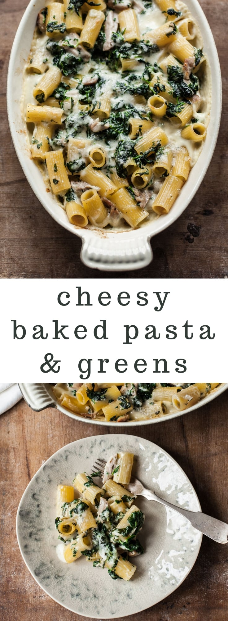 Creamy Baked Pasta with Chicken and Spinach