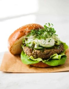 Shawarma Lamb Burgers with Fennel Slaw
