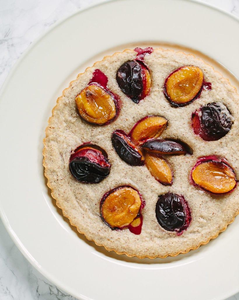 Simple French Almond Plum Cake
