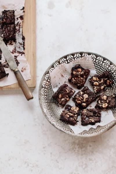 gooey chocolate hazelnut brownies