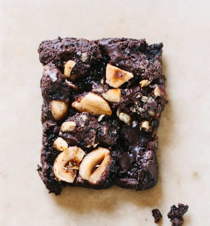 Gooey Chocolate Hazelnut Brownies