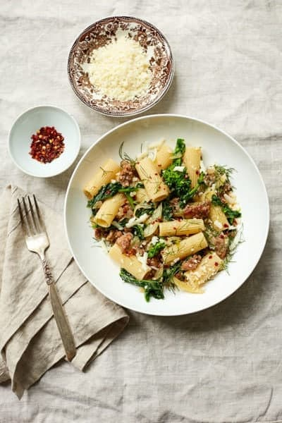 Broccoli Rabe Pasta with Italian Sausage and Fennel