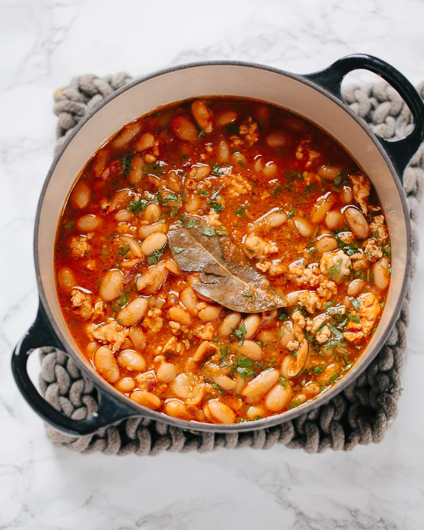 White Bean Chicken Chili with Chorizo Spice