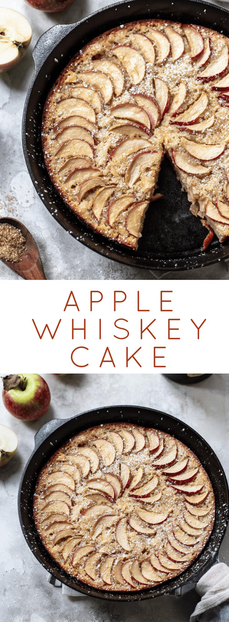 Skillet Whiskey Apple Cake