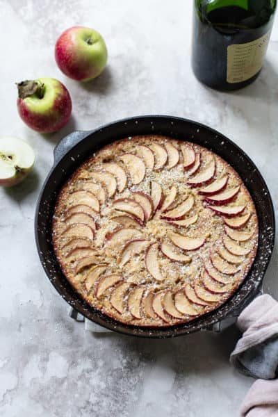 Skillet Apple Whiskey Cake
