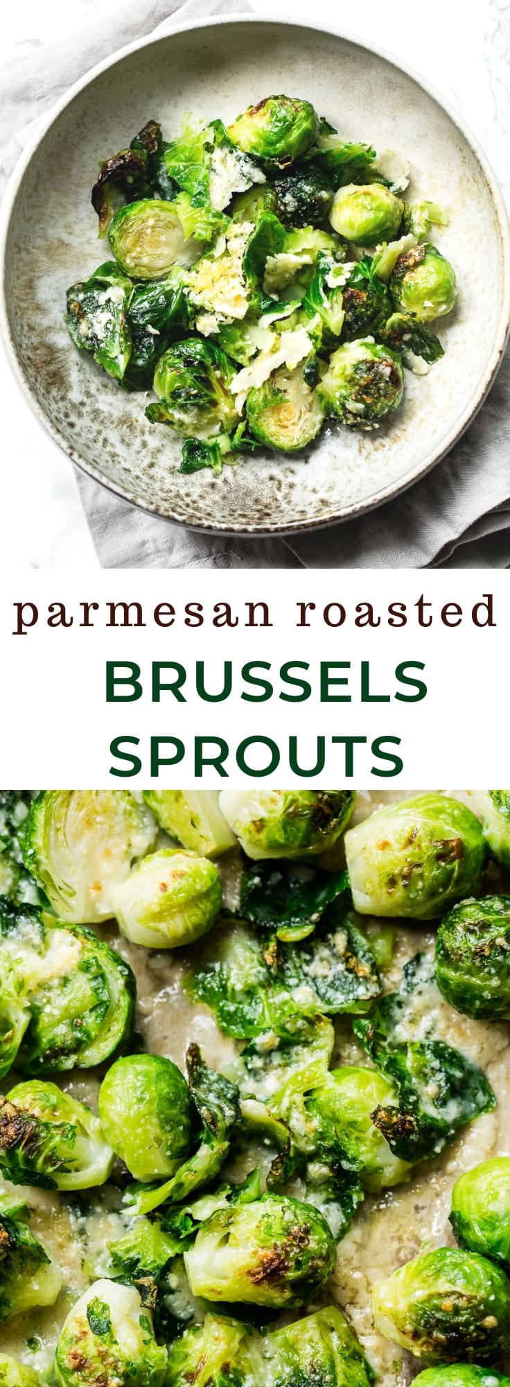 Easy Parmesan Roasted Brussels Sprouts